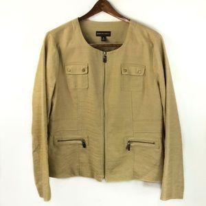Dana Buchman Tan Linen Blend Blazer Jacket